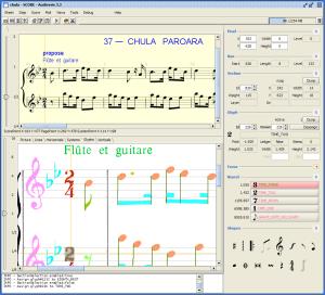 Captura de pantalla de la interfaz de Audiveris (de http://audiveris.kenai.com/)
