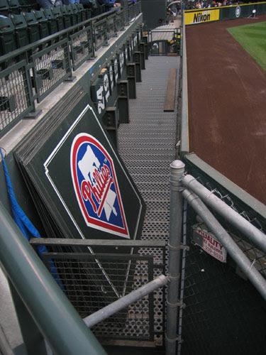 behind the LF scoreboard