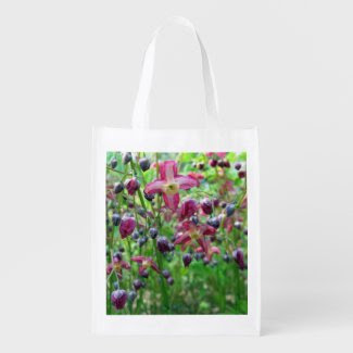 Epimedium Flowers Reusable Grocery Bag