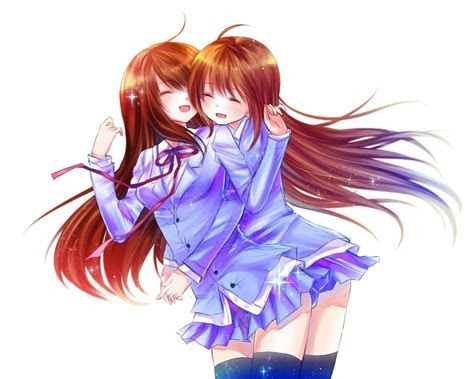 anime  friend hugging gif google sogning anime