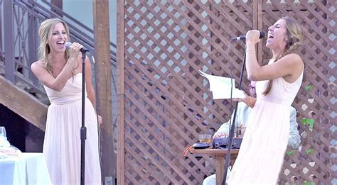 Sisters Of The Bride Give The Greatest Wedding Toast Of