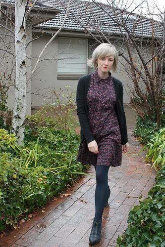 Drop waist shirt dress by Pattern Runway in Tiny Dancer Liberty fabric