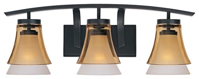 Feiss Bristol 2 Light Vanity Fixture In Oil Rubbed Bronze: Bathroom Lighting Bronze