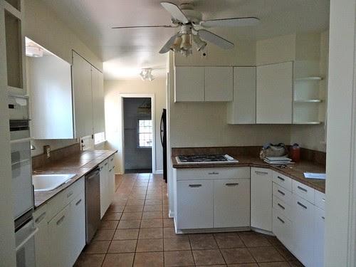 Kitchen view towards Garage door