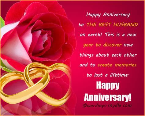 Wedding Anniversary Messages for Husband   Wordings and