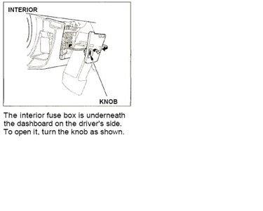2001 Dodge Caravan Interior Fuse Box ...