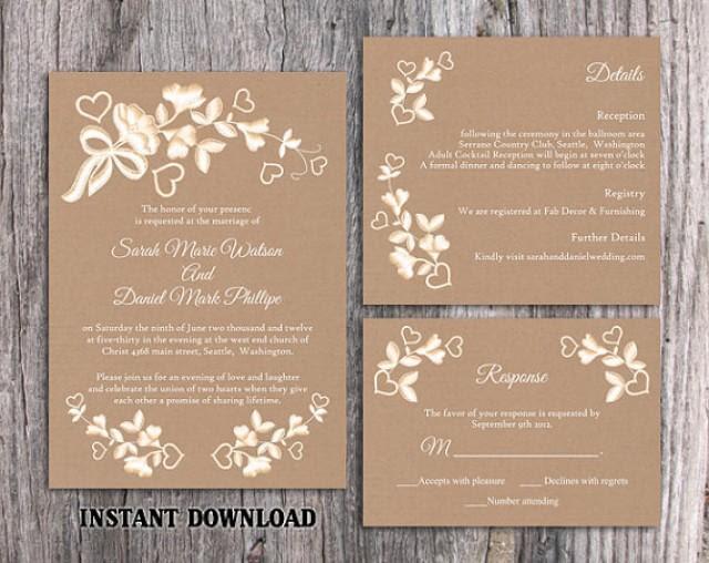 Wedding Printable Downloadable Free Wedding Invitation Templates For Word
