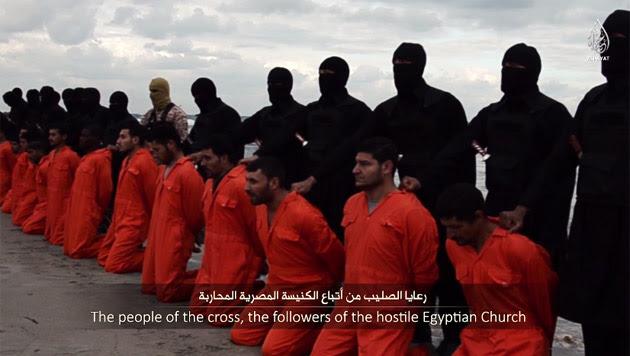 Das erste Gräuelvideo des libyschen IS-Ablegers zeigt die Enthauptung von 21 ägyptischen Kopten.