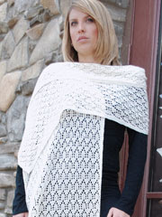 Windowpane Lace Shawl Knit Pattern