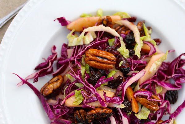 cabbage and apple salad and 20 Thanksgiving Day Recipes and a Bonus Turkey Leftover Recipe