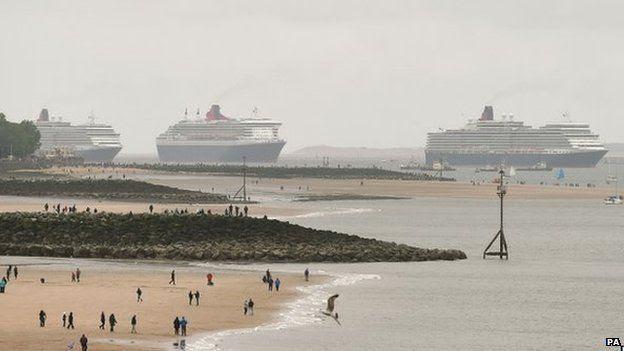 Three Cunard liners