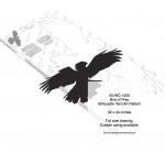 Bird of Prey Silhouette Yard Art Woodworking Pattern - fee plans from WoodworkersWorkshop® Online Store - birds,shadow art,animals,wildlife,african,yard art,painting wood crafts,scrollsawing patterns,drawings,plywood,plywoodworking plans,woodworkers projects,workshop blueprints
