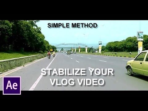 How To Stabilize Shaky Vlog Video In After Effects (Simple Method)