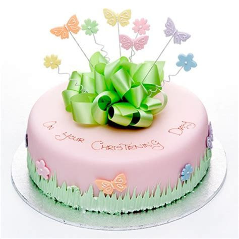 Colourful Butterflies Cake (Pink)   Round