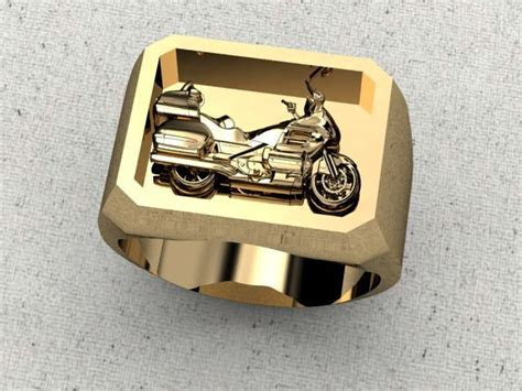 Gents Goldwing Motorcycle Ring   Products I Love