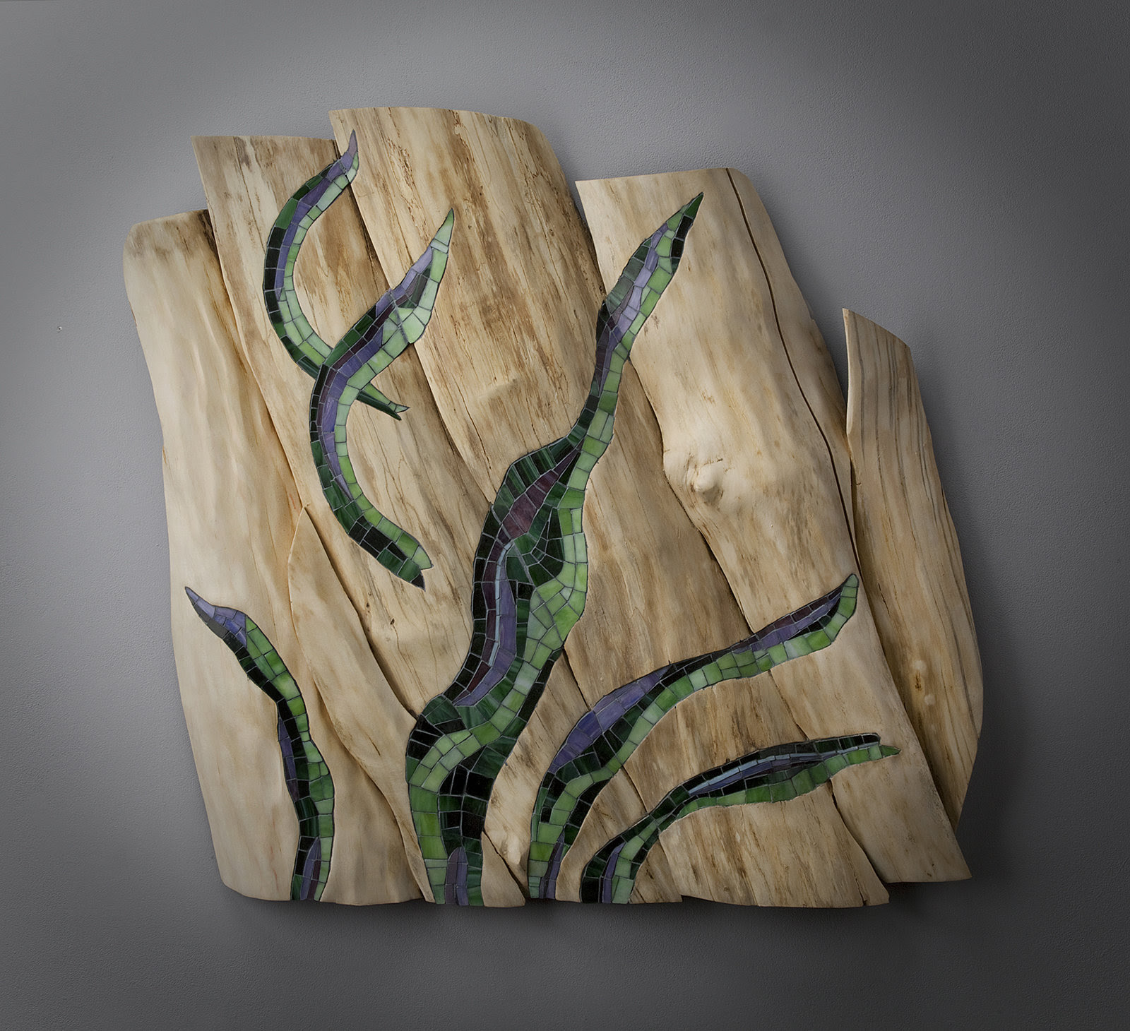 Caught By The Current By Aaron Laux Art Glass Wood Wall