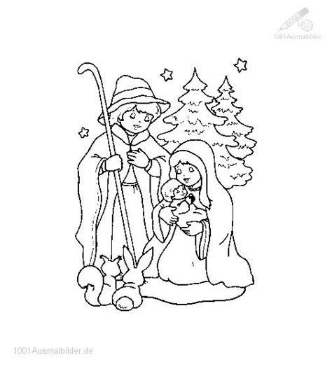 ausmalbilder weihnachten maria und josef  kostenlose