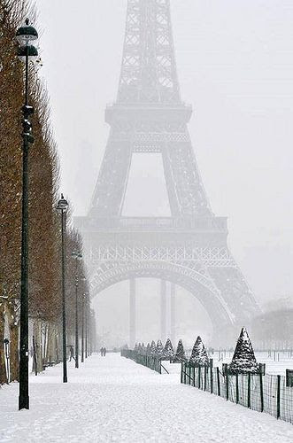 Eiffel Tower in winter | by Red1406, Flickr- #LadyLuxuryDesigns