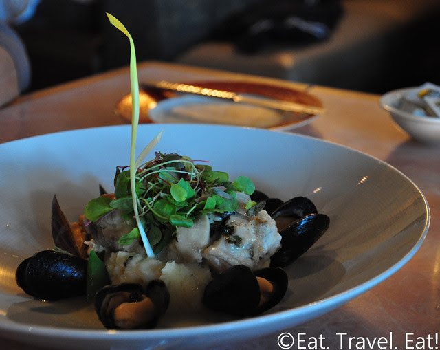 Sesame Grill: Monkfish and Mussels