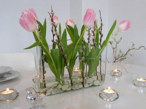 DIY: schnelle Frühlings Deko für den Tisch selbst machen ...