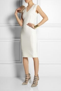 Roland Mouret Wezen Stretch Crepe Dress