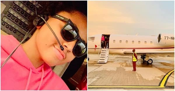 Regina Daniels shows off hubby Ned Nwoko's newly acquired private jet.