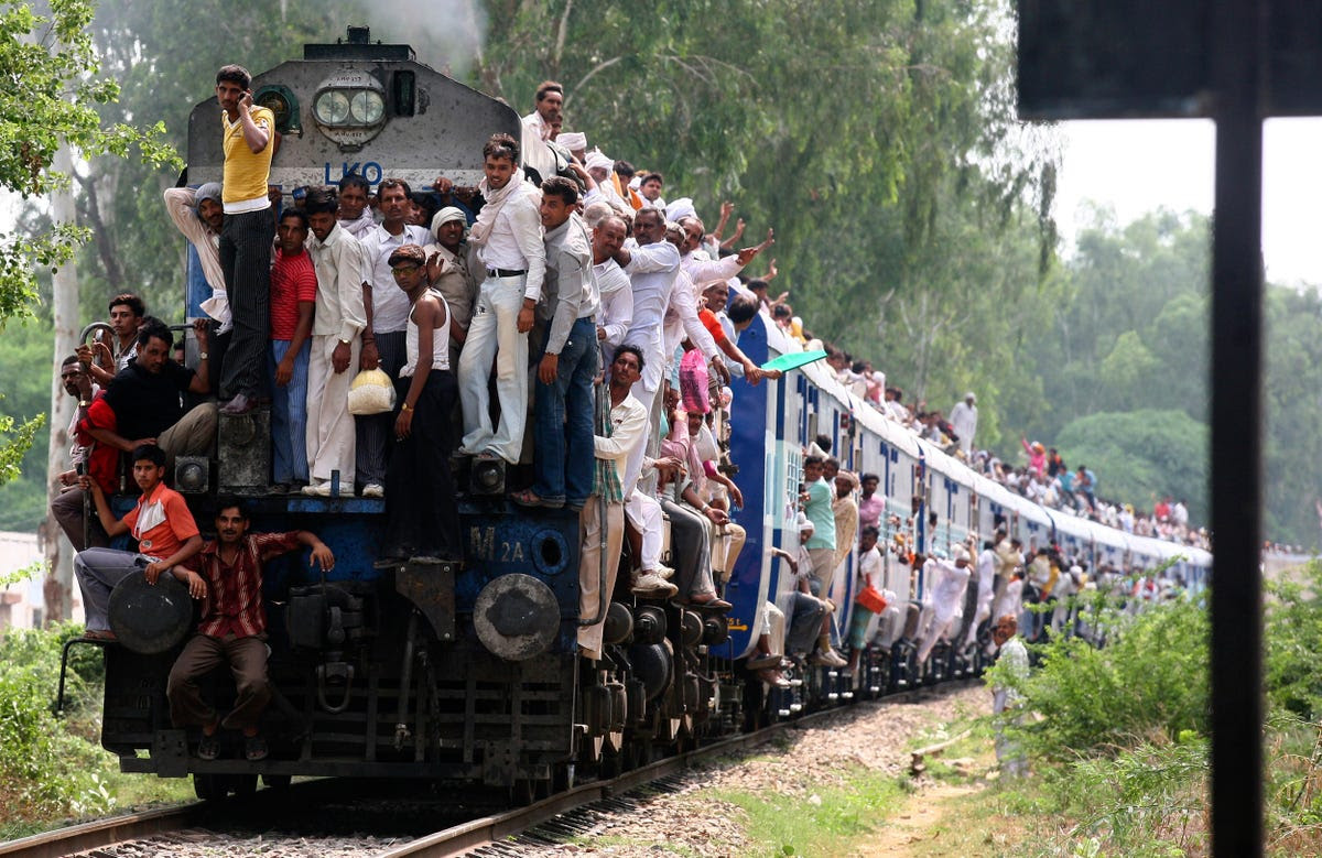 Indian Railways is one of the world's largest employers, with 1.4 million on staff.