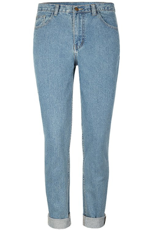 Straight Bleach Wash Jeans