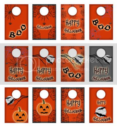 Free printable Halloween tags digital collage sheet