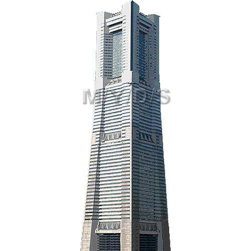 横浜ランドマーク タワーのイラスト条件付フリー素材集