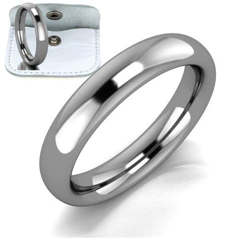 Mens Womens Ladies Titanium Comfort Fit Plain Wedding