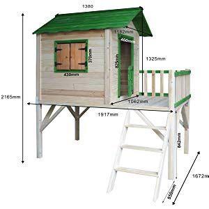 brast spielhaus fuer kinder mit balkon stelzenhaus