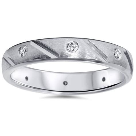 Mens 1 4ct Diamond Comfort Fit Wedding Ring Solid 14k