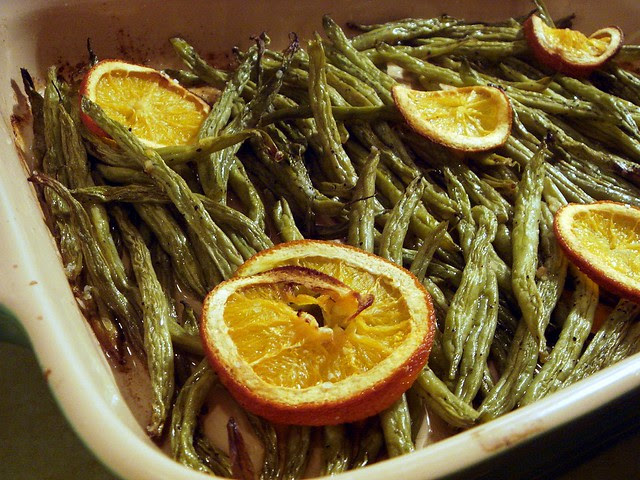 Ginger-Citrus Roasted Green Beans