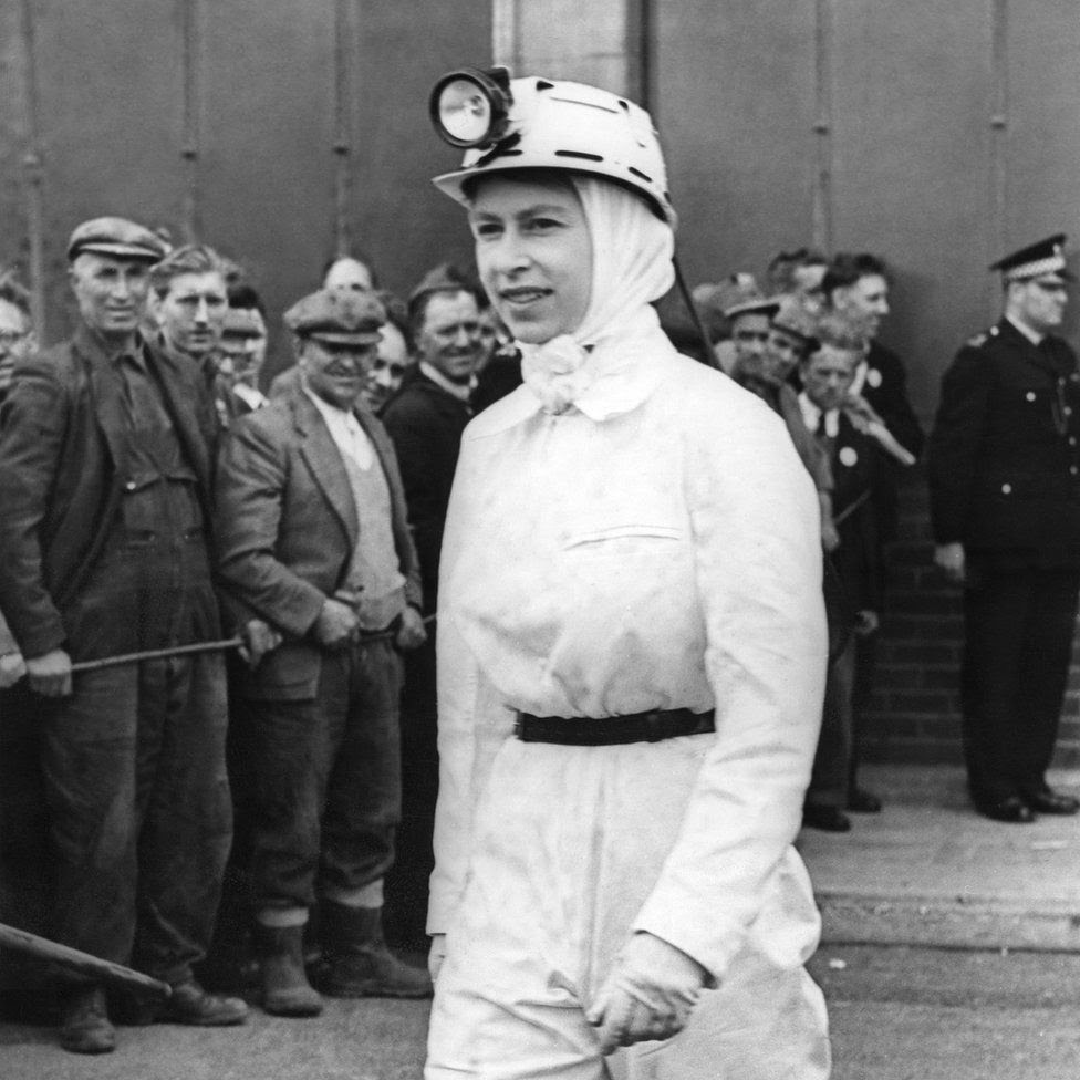 During her visit to Rothes Colliery, Fifeshire