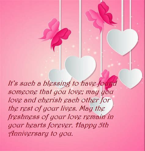 5th Marriage Anniversary Quotes Wishes Images   Best Wishes