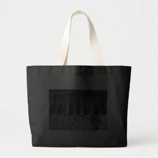 Piano Keys and Music Notes Tote Bag