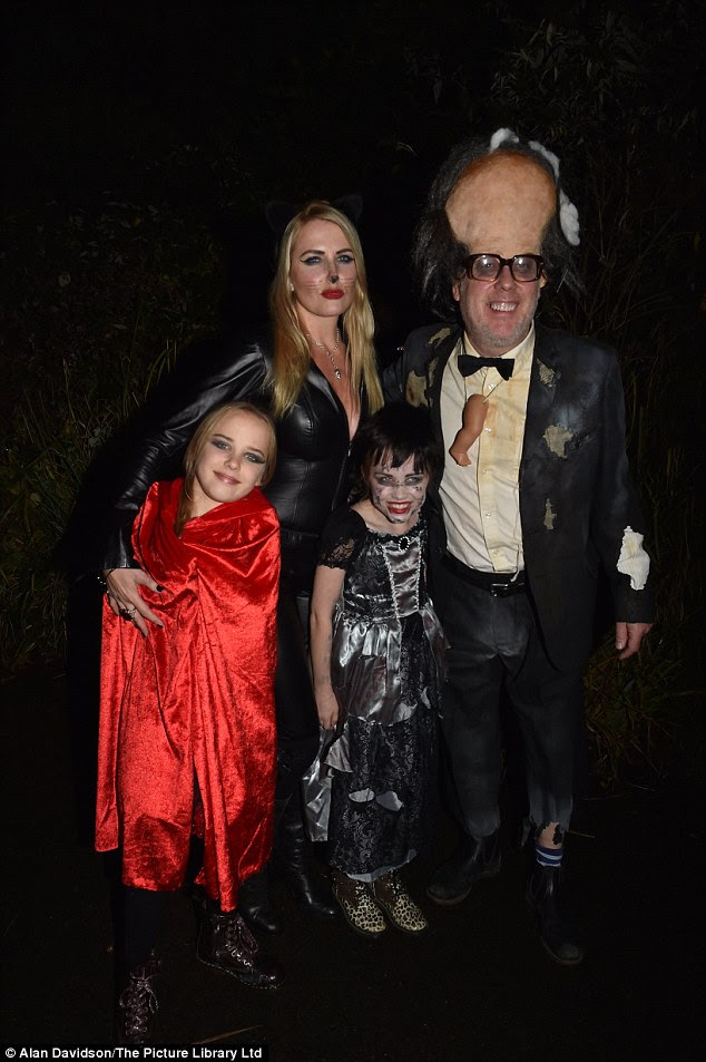 We are family: Vic Reeves and Nancy Sorrell bought along their twin girls Beth and Nell