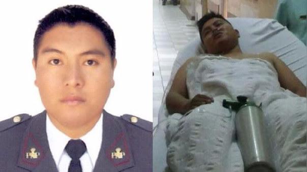 El suboficial Torres permanece en el Hospital de la Policía Nacional
