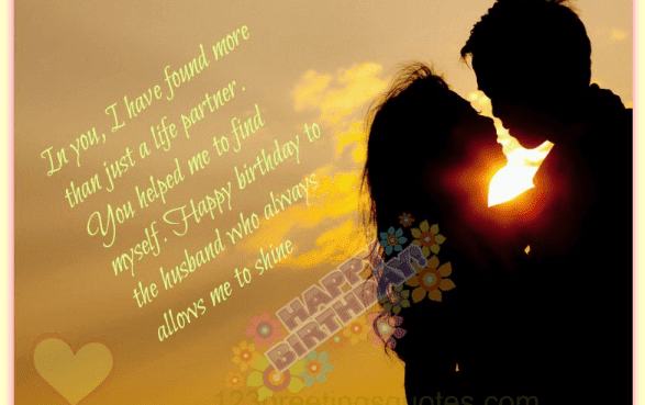 101 Best Happy Birthday Wishes Quotes Poems for Husband ...