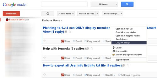 Essbase discussion board_rss read