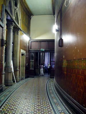 Curved hallway, Midland Grand Hotel, St Pancras Chamber London UK