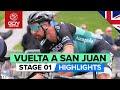 Vídeo resumen de la 1ª etapa de la Vuelta a San Juan 2020