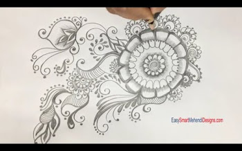 Sunflower Tattoo Design for embroidery and Rangoli