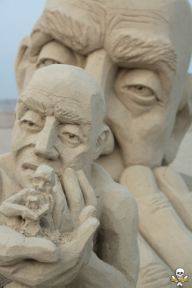 Infinity: A Mind Bending New Sand Sculpture by Carl Jara sculpture sand
