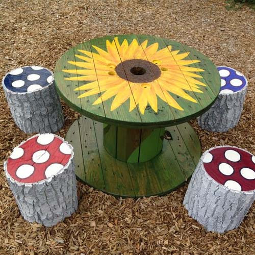 20 Diy Wooden Spools Repurposing Ideas Quick And Simple Work