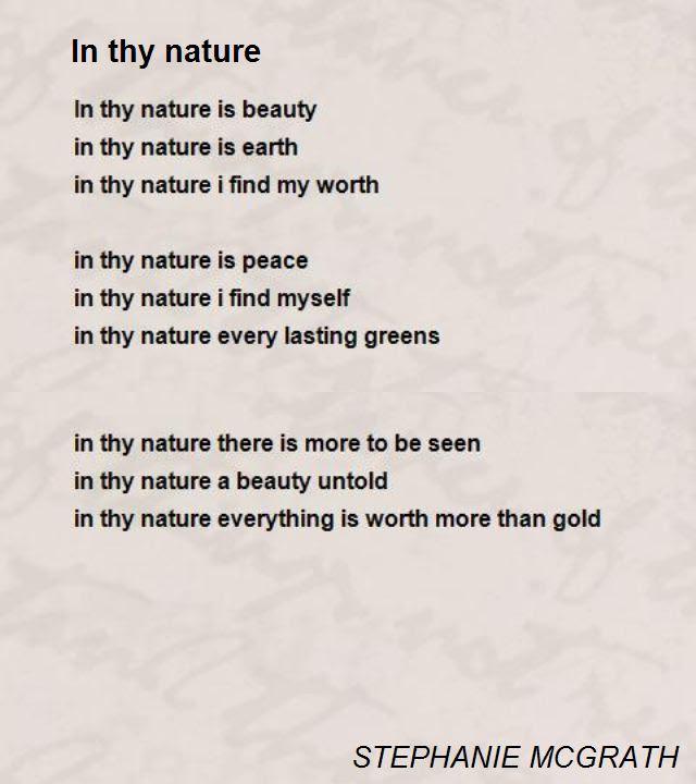 64 Simple Poem On Nature