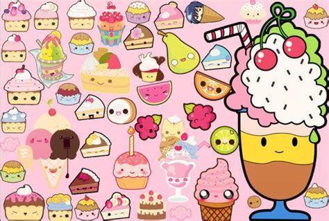 Cute Kawaii Food Wallpaper   WallpaperSafari