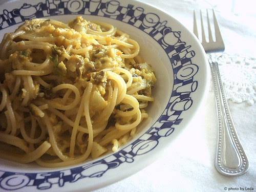"Spaghetti alla ""carbonara di verdure"""