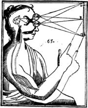 vision estereoscopica, binocular, diagrama Descartes